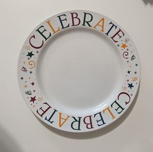 Pampered Chef. 'Celebrate!' Plate.